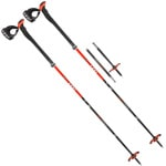 Leki Tourstick Vario Carbon V Trekking-Wanderstöcke - Black/Orange