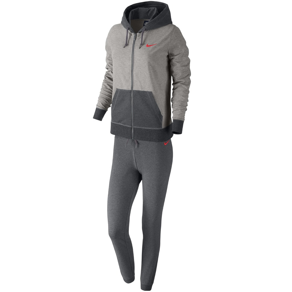 nike jersey cuffed damen trainingsanzug dark grey heather fun sport vision. Black Bedroom Furniture Sets. Home Design Ideas