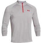 Under Armour Tech 1/4 Zip Herren-Langarmshirt 1242220-026 Gray Heather