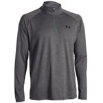 Under Armour Tech 1/4 Zip Herren-Langarmshirt 1242220-090 Carbon