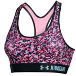 Under Armour Armour Mid Bra Printed Damen Sport-BH Pink Craze