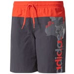 adidas Performance Lineage Short Kinder-Badehose Utility Black/Red