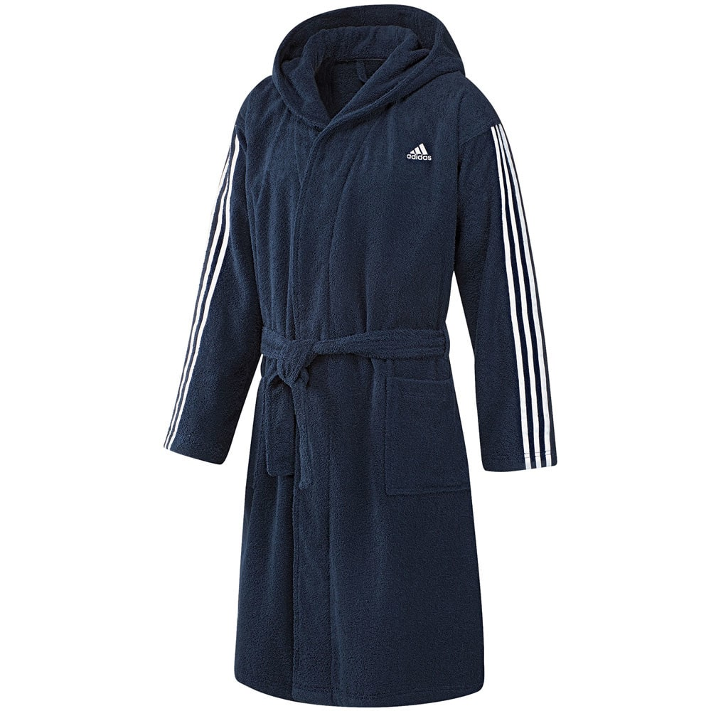adidas performance 3 stripes bathrobe herren bademantel ao0064 navy fun sport vision. Black Bedroom Furniture Sets. Home Design Ideas