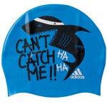 adidas Performance Youth Graphic Cap Kinder-Silikon-Badekappe Blue