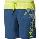 adidas Performance Lineage Short Kinder-Badehose Blue/Yellow