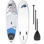 F2 Inflatable Feelgood Damen-Stand Up Paddle Board Set White