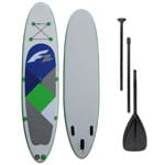 F2 Inflatable Free Stand Up Paddle Board Set Grey/Blue