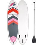 F2 Inflatable Arrow Woman Stand Up Paddle Board Set White/Pink