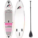 F2 Inflatable Impact Stand Up Paddle Board Set Pink