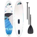 F2 Peak Windsurf Stand Up Paddle Board Set White/Blue