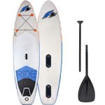 F2 Inflatable Ride Windsurf Stand Up Paddle Board Set White