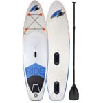 F2 Inflatable Ride Windsurf Stand Up Paddle Board Set White/Blue
