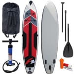 F2 Speed Stand Up Paddle Board Set Red/Black/Grey