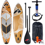 F2 Swell Wood Stand Up Paddle Board Set Rental