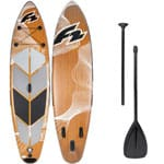 F2 Inflatable Swell Wood Stand Up Paddle Board Black Brown