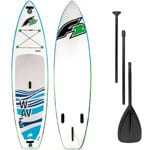 F2 Wave Stand Up Paddle Board Set White/Cyan