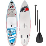 F2 Wave Windsurf Stand Up Paddle Board Set Grey/Blue