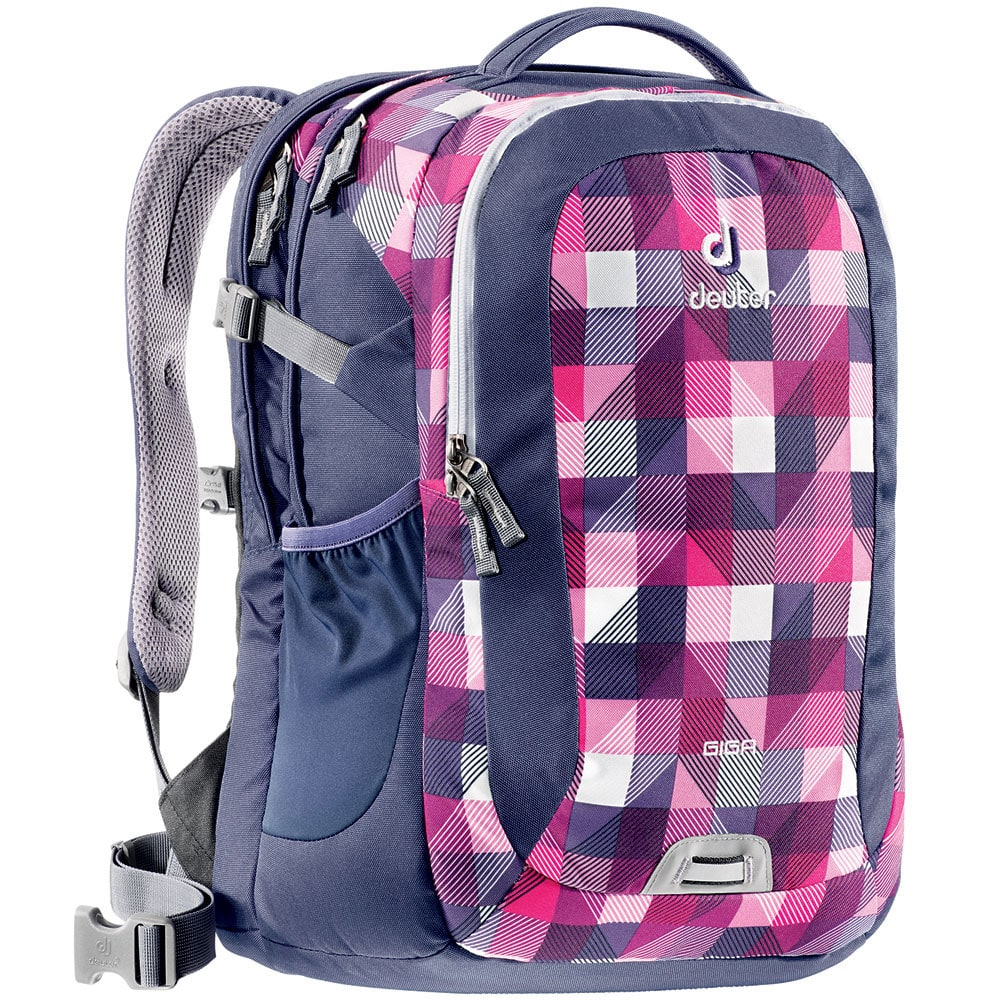 deuter giga 28 liter laptop rucksack magenta arrowcheck. Black Bedroom Furniture Sets. Home Design Ideas