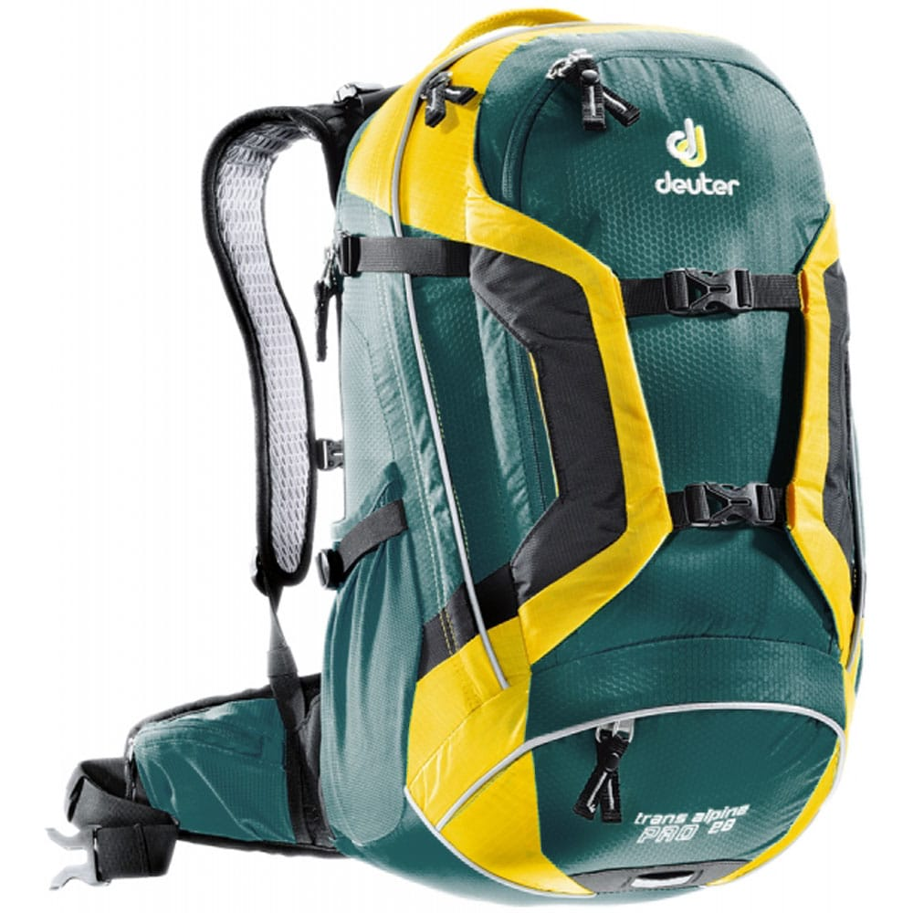 Image of Deuter Trans Alpine Pro 28 Bike Rucksack 32263-38020 Petrol-Lemon