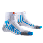 X-Bionic Run Speed Two Damen-Laufsocken White/Turquoise