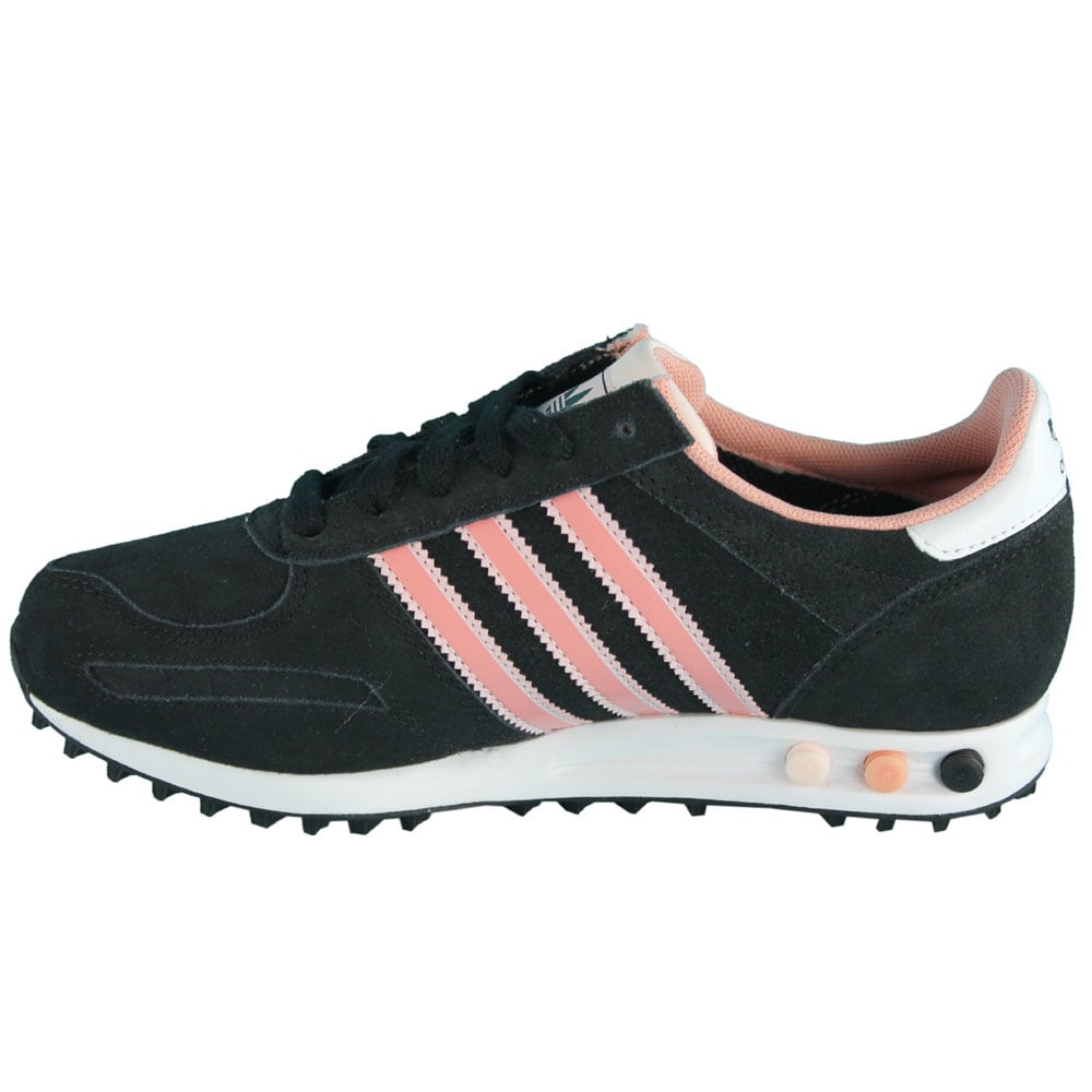 adidas originals la trainer w sneaker grey white pink. Black Bedroom Furniture Sets. Home Design Ideas