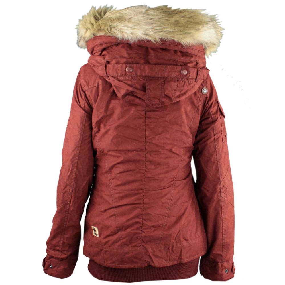 Khujo winterjacken damen rot