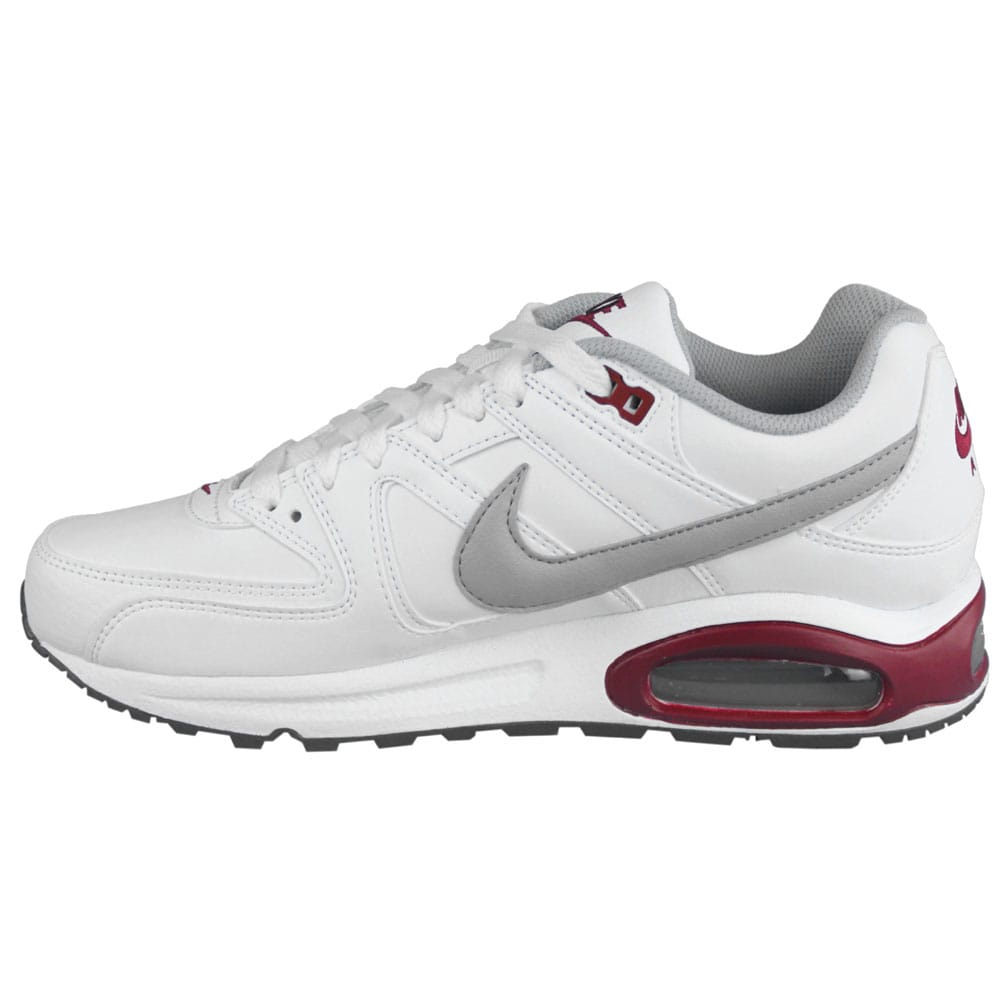nike air max command leather 409998 108 white grey red. Black Bedroom Furniture Sets. Home Design Ideas