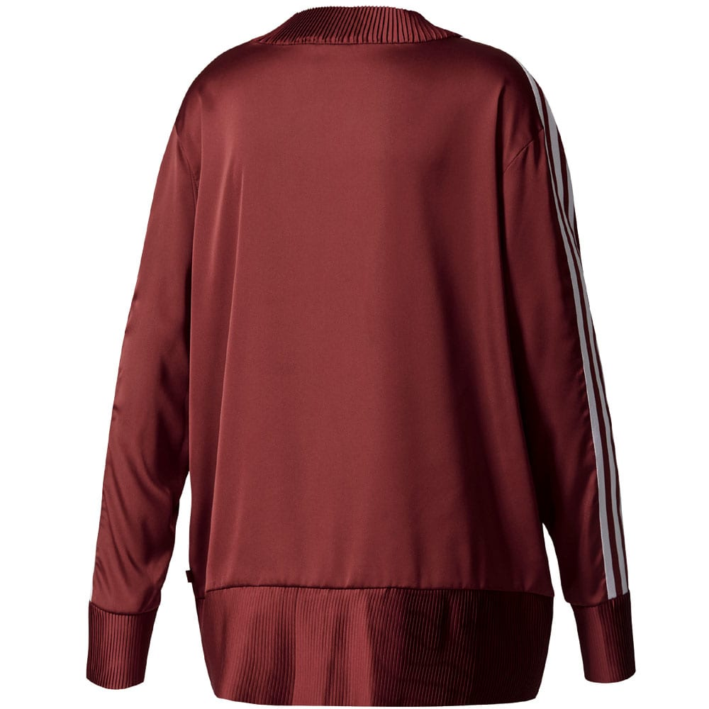 806a28e3e205 adidas Originals 3 Stripes Sweater Damen-Pullover Burgundy