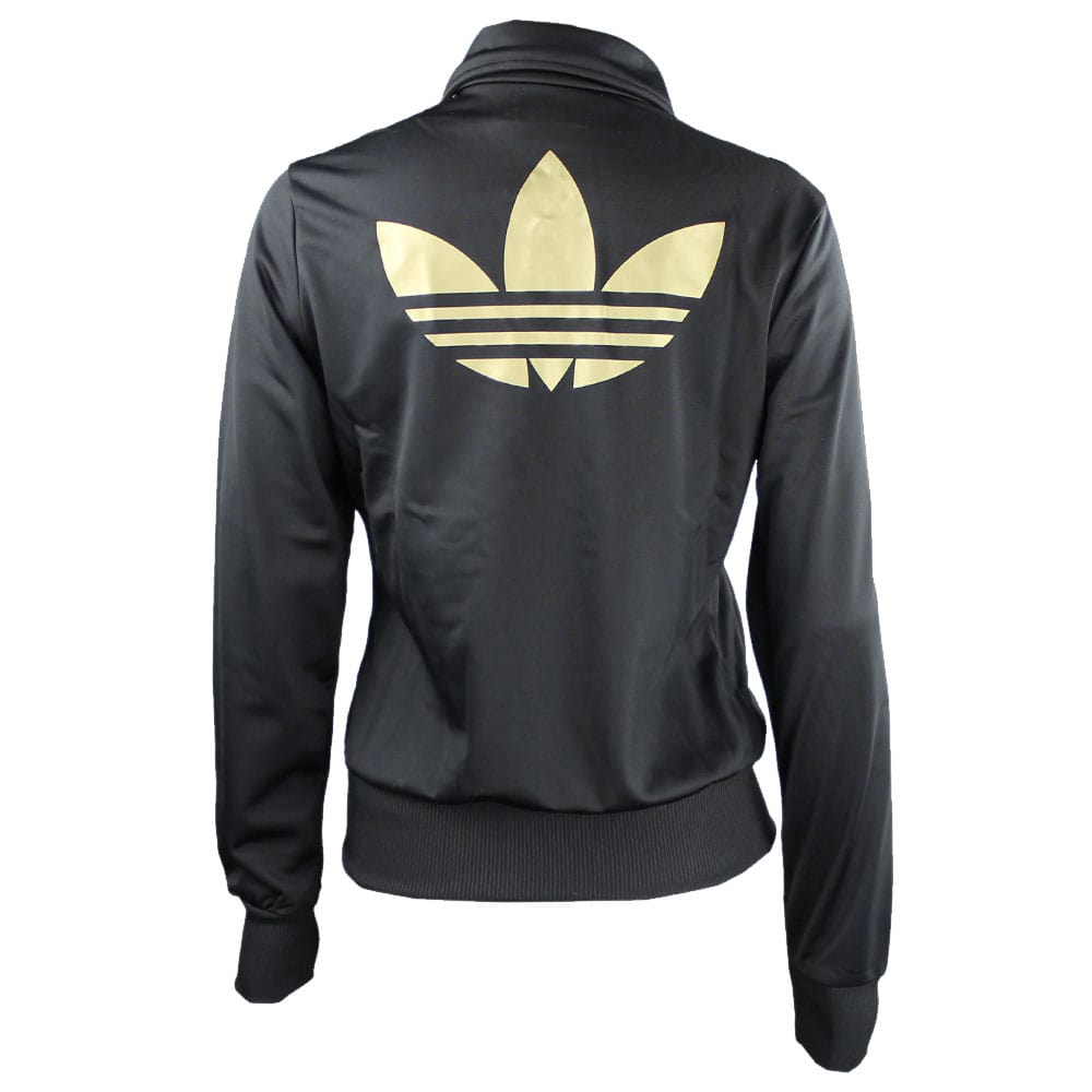 adidas damen jacke firebird tt schwarz gold modische. Black Bedroom Furniture Sets. Home Design Ideas