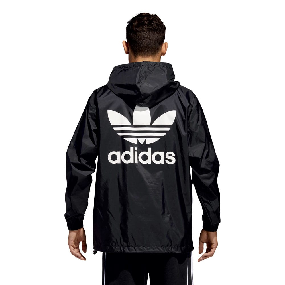 adidas originals poncho windbreaker herren jacke black white fun sport vision. Black Bedroom Furniture Sets. Home Design Ideas