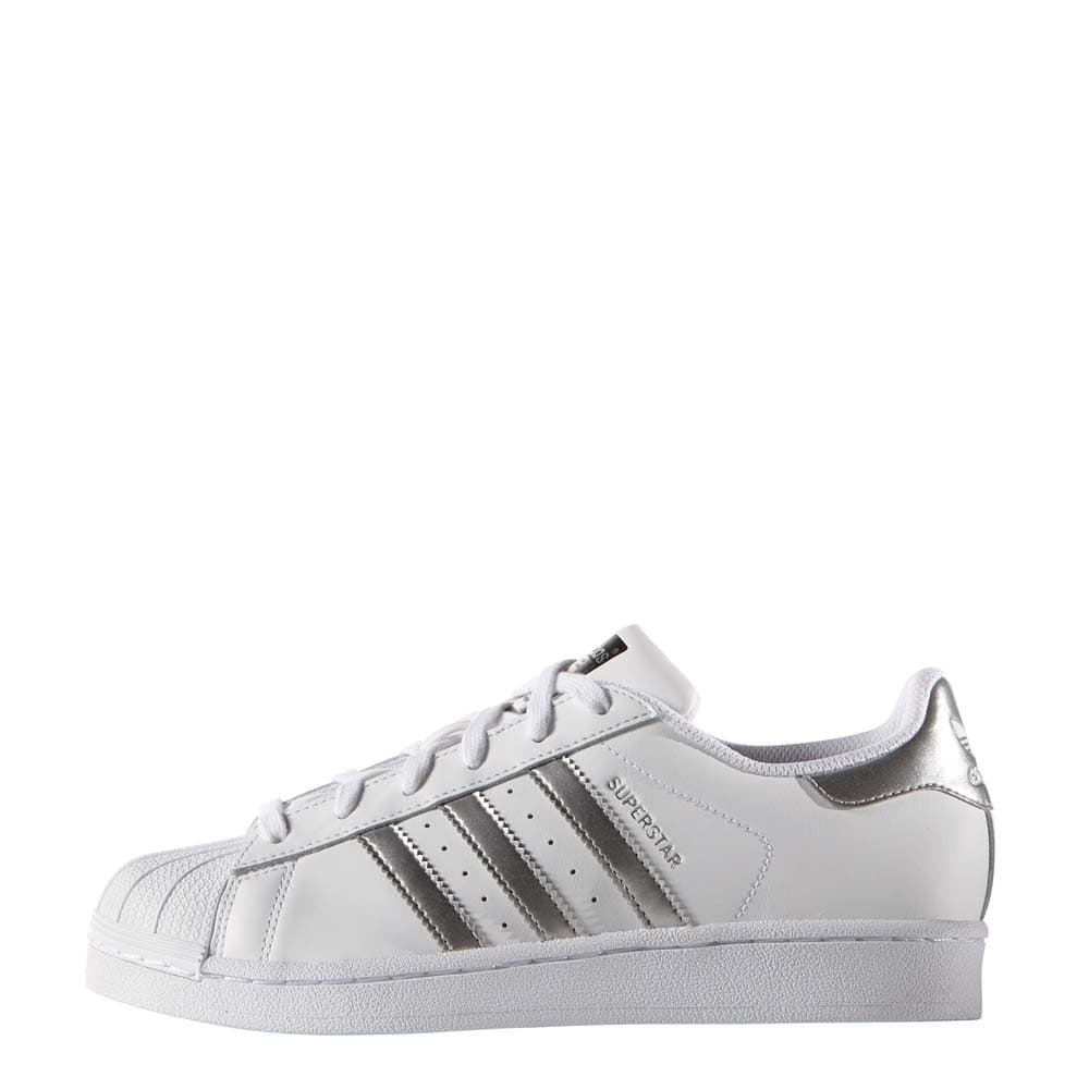 adidas originals superstar damen sneaker white silver. Black Bedroom Furniture Sets. Home Design Ideas
