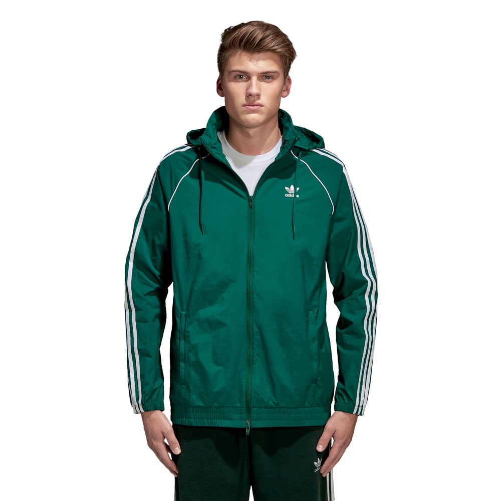 adidas originals superstar windbreaker herren jacke green. Black Bedroom Furniture Sets. Home Design Ideas