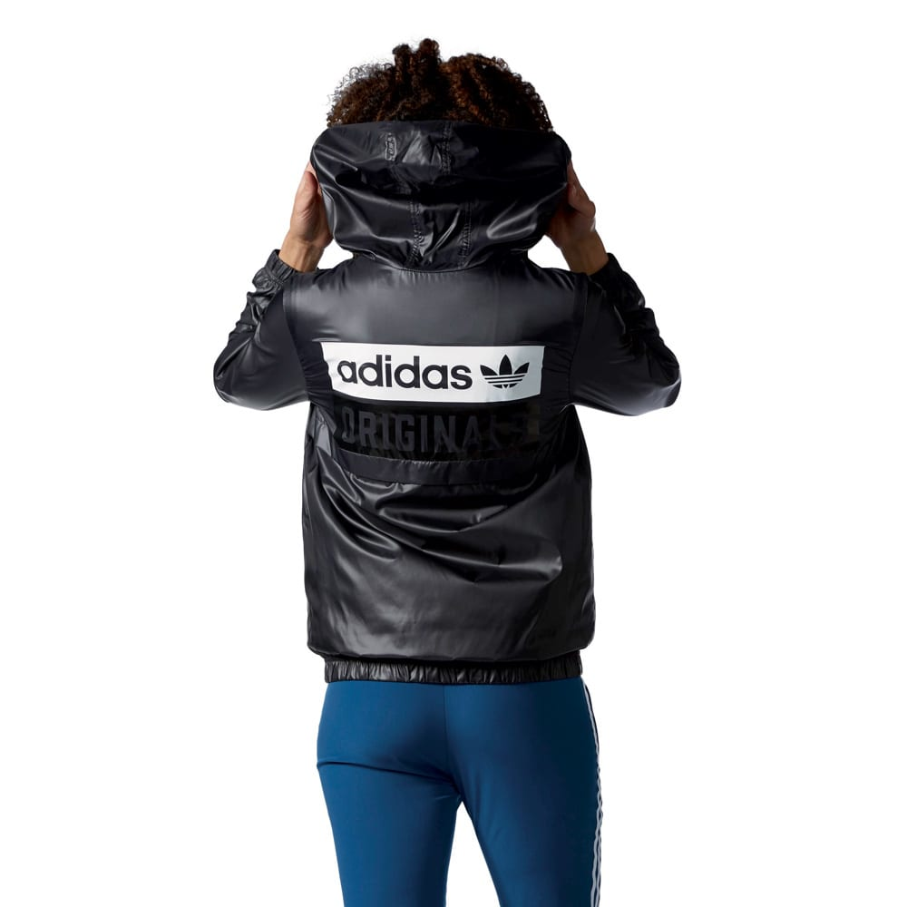 adidas originals windbreaker damen jacke shadow black online kaufen. Black Bedroom Furniture Sets. Home Design Ideas
