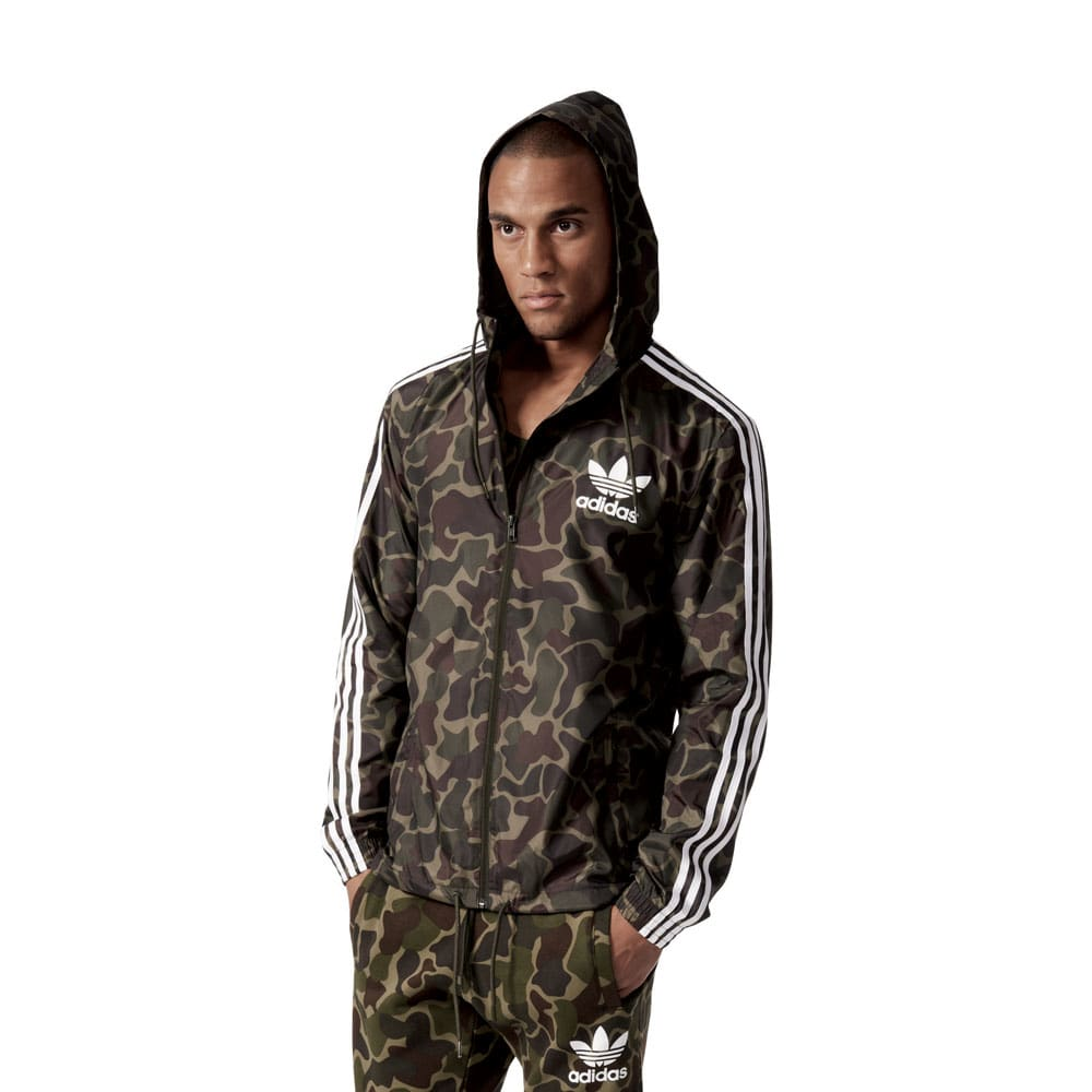 adidas originals camo windbreaker herren jacke multicolor. Black Bedroom Furniture Sets. Home Design Ideas