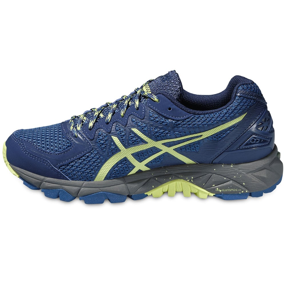 asics gel fujitrabuco 4 damen laufschuhe blue green carbon. Black Bedroom Furniture Sets. Home Design Ideas