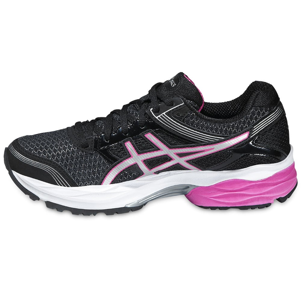 asics gel pulse 7 damen laufschuhe t5f6n 9035 black pink. Black Bedroom Furniture Sets. Home Design Ideas