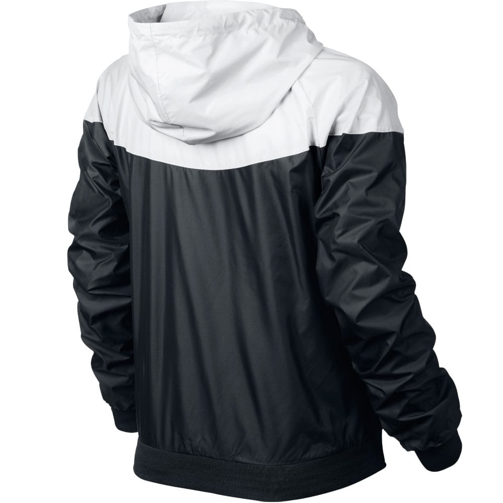 nike damen windrunner jacke black white xl
