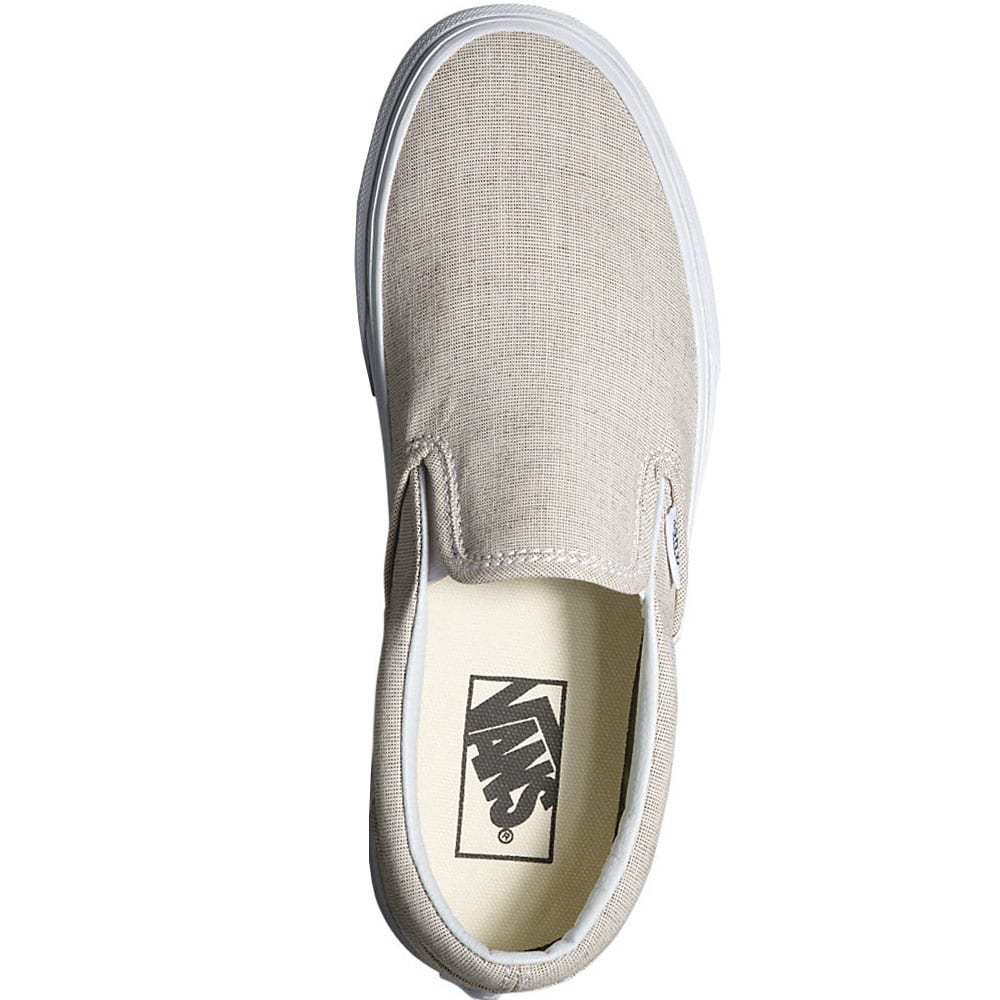 vans classic slip on damen sneaker chambray gray white. Black Bedroom Furniture Sets. Home Design Ideas