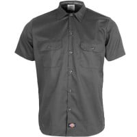 Dickies Short Sleeve Slim Work Shirt Hemd Charcoal Grey