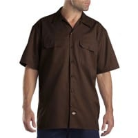 Dickies Short-Sleeve Work Shirt Herren-Hemd Dark Brown