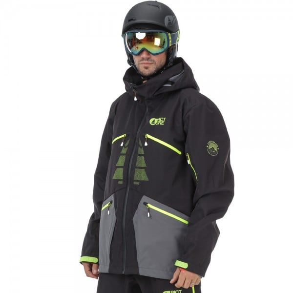 Picture Welcome 4 Jacket Herren-Snowboardjacke Black/Anthrazit