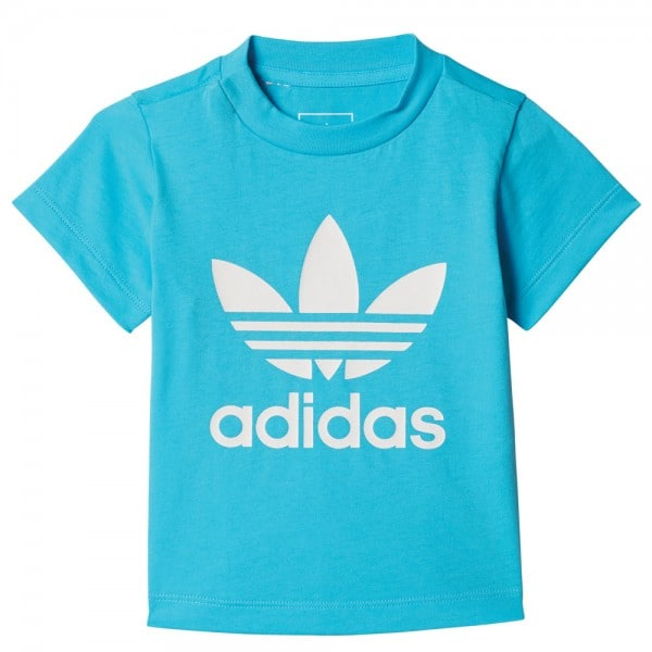 adidas Originals Infant Trefoil Tee Kleinkinder-Shirt Cyan
