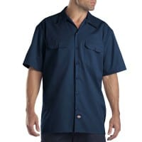 Dickies Short-Sleeve Work Shirt Herren-Hemd Dark Navy