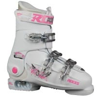 Roces Idea Free Kinder-Skistiefel White/Deep Pink