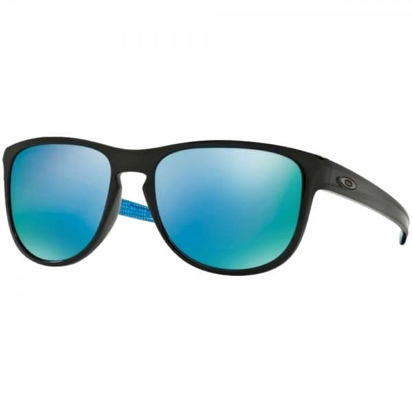 Oakley Sliver Round Polished Black Prizm Deep Water Polarized