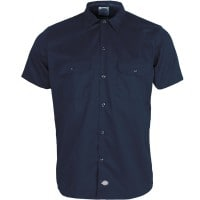 Dickies Short Sleeve Slim Work Shirt Hemd Navy