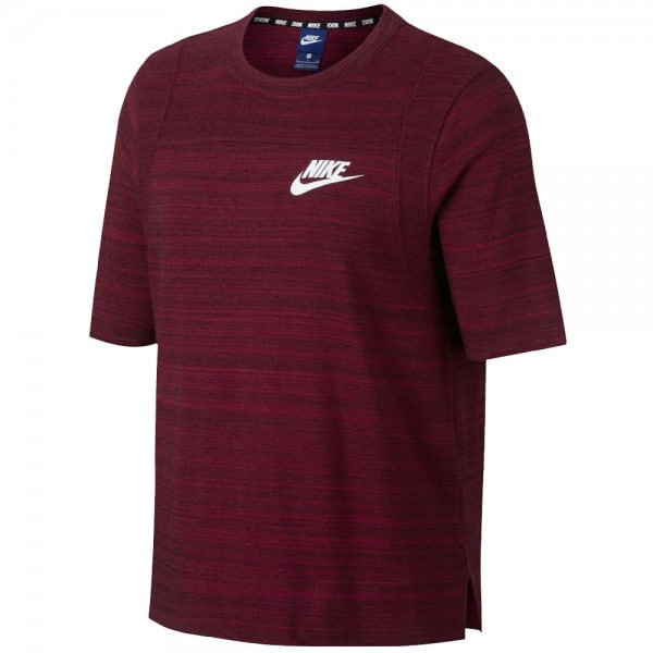 Nike Sportswear Advance 15 Top Damen-Shirt Noble Red/White