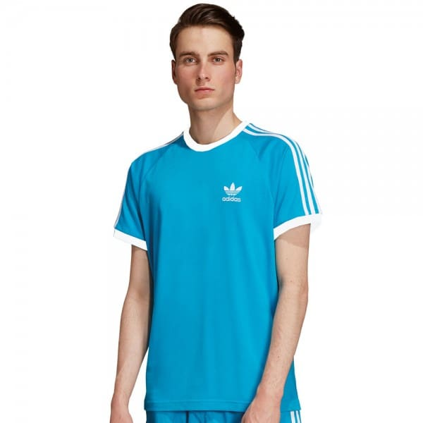 adidas Originals 3-Stripes Tee Shock Cyan