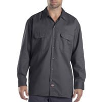 Dickies Long-Sleeve Work Shirt Herren-Hemd Charcoal Grey