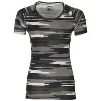 asics fuzeX Printed Short-Sleeve Top Damen-Laufshirt Impulse Dark Grey